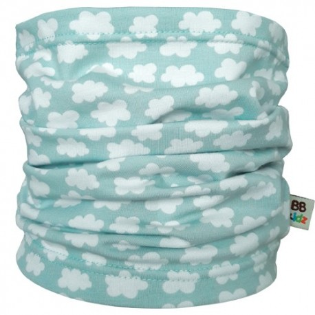 Mint Clouds Tube Scarf - Baby