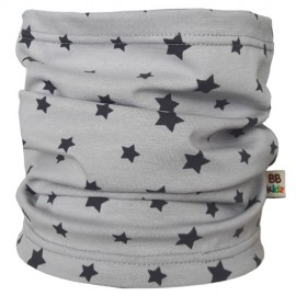 Light Grey with Stars Tube Scarf - Baby