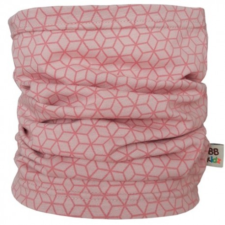 Pink Hexagons Tube Scarf - Baby