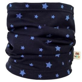 Navy Blue Stars Tube Scarf - Baby