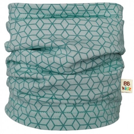 Mint Hexagons Tube Scarf - Baby