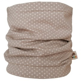 Beige Dots Tube Scarf - Baby
