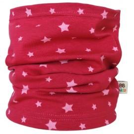 Fuchsia Stars Tube Scarf - Baby