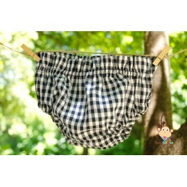 Black vichy diaper cover