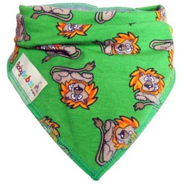 Green Lions Dribble Bib - Baby Babas