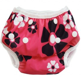 Swim Nappy Pink Flowers