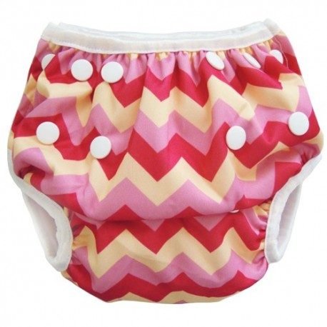 Swim Nappy Pink Zig Zag