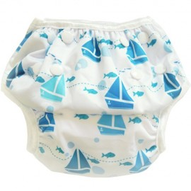 Swim Nappy Sailboats & Fish