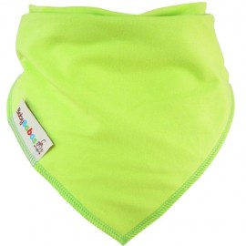 Lime Green Dribble Bib XL - Baby Babas