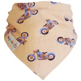 Blue Motorbikes Dribble Bib XL - Baby Babas