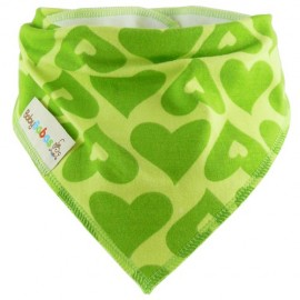 Green Hearts - bandana dribble bib by Baby Babas