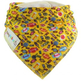 Sweets on Yellow - bandana dribble bib by Baby Babas