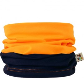 Navy Blue & Orange Duo Tube Scarf 0-2 years - Baby Babas