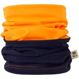 Navy Blue & Orange Duo Tube Scarf - Kids 2-8 years - Baby Babas