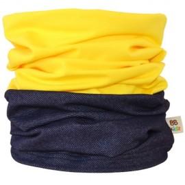 Denim & Yellow Duo Tube Scarf - Kids 2-8 years - Baby Babas