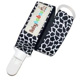 Black Giraffe Pacifier Clip - Baby Babas