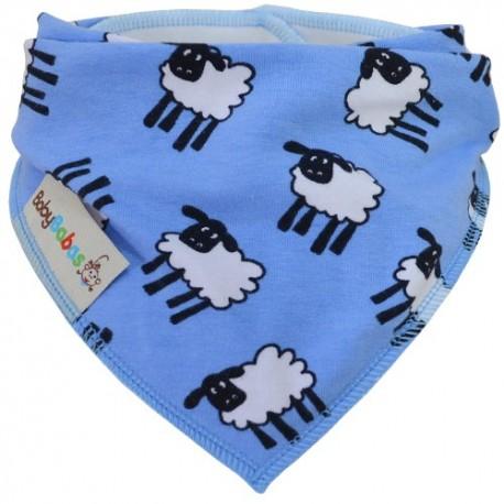 Blue Sheep - bandana dribble bib by Baby Babas
