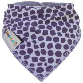 Grey Giraffe - bandana dribble bib - Baby Babas