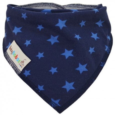 Navy Blue Stars - bandana dribble bib - Baby Babas
