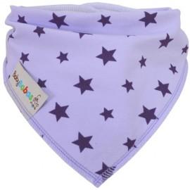 Lilac Stars - bandana dribble bib - Baby Babas