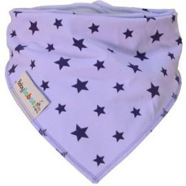 Lilac Stars Dribble Bib XL - Baby Babas