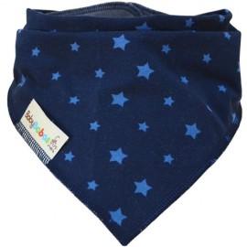 Navy Blue Stars Dribble Bib XL - Baby Babas