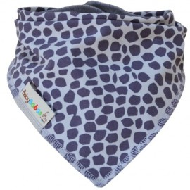 Grey Giraffe Dribble Bib XL