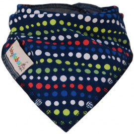 Navy Blue Mosaic - Bandana Dribble Bib - Baby Babas