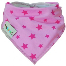 Light Pink Stars - bandana dribble bib - Baby Babas