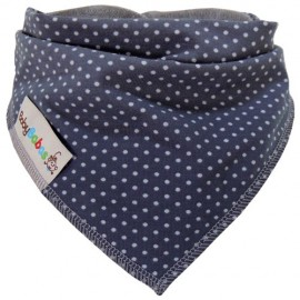 Grey Dots - bandana dribble bib - Baby Babas
