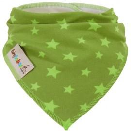 Verde Lima con Estrellas  - pañuelo quita babas - Baby Babas
