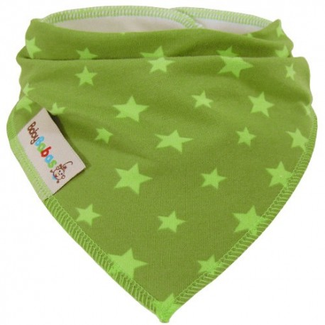 Lime Green Stars - bandana dribble bib - Baby Babas