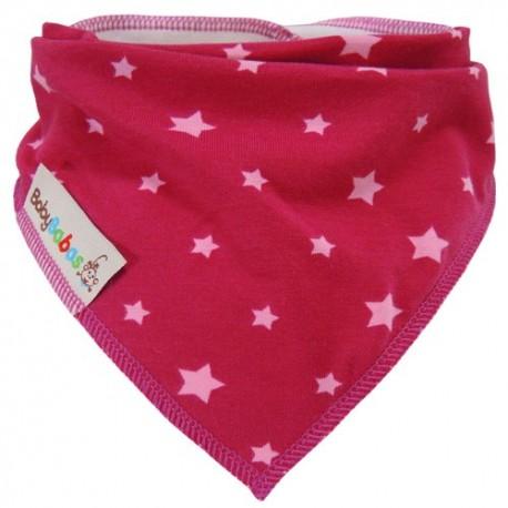 Fuchsia Stars - bandana dribble bib - Baby Babas