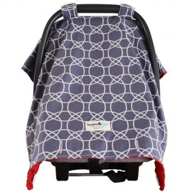 Goo Goo Cover Chelsea Grey - Infant car seat canopy cover - Baby Babas