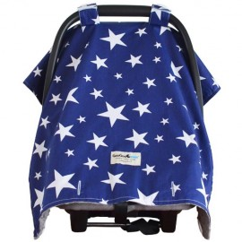 Goo Goo Cover Navy Star - Infant car seat canopy cover - Baby Babas