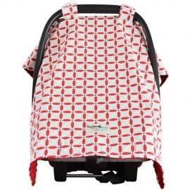 Goo Goo Cover Cherie Red - Infant car seat canopy cover - Baby Babas