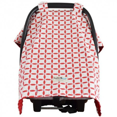 sc 1 st  babybabas & Goo Goo Cover Cherie Red - Infant car seat canopy cover - Baby Babas