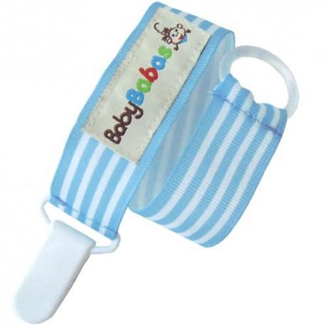 Blue Stripes Pacifier Clip