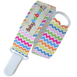 Multicoloured Zig Zag Pacifier Clip