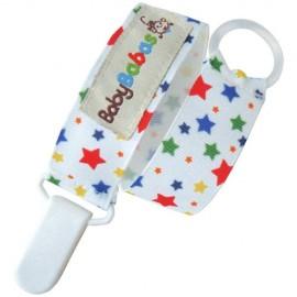 Sujeta Chupete Estrellas Multicolores - Baby Babas