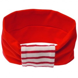 Red with Cream & Red Stripes Headband - Baby Babas
