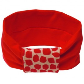 Red with Red Giraffe Headband - Baby Babas